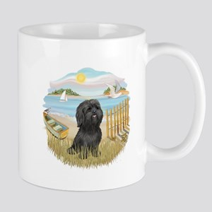 RowBoat-ShihTzu-blk Mug