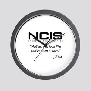 NCIS Ziva David Seen a Goat Quote Wall Clock