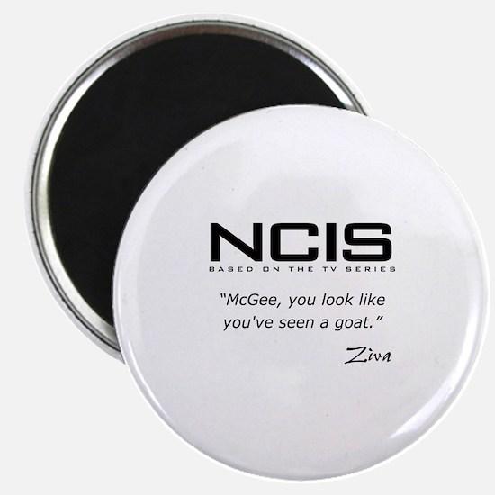"NCIS Ziva David Seen a Goat Quote 2.25"" Magnet (10"