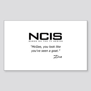 NCIS Ziva David Seen a Goat Quote Sticker (Rectang