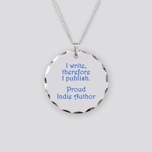 Proud Indie Author Necklace Circle Charm