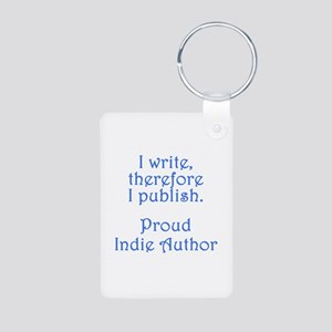 Proud Indie Author Aluminum Photo Keychain