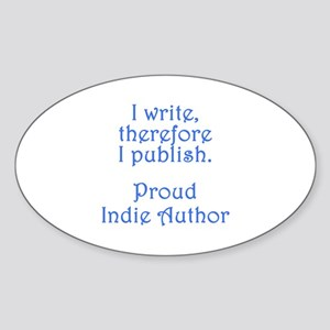 Proud Indie Author Sticker (Oval)