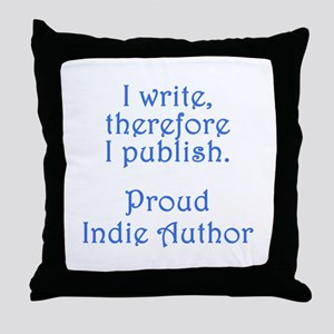 Proud Indie Author Throw Pillow