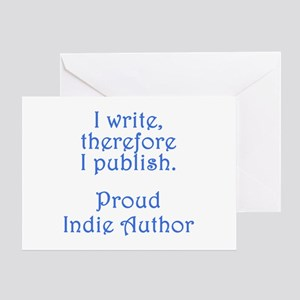Self publish greeting cards cafepress proud indie author greeting card m4hsunfo
