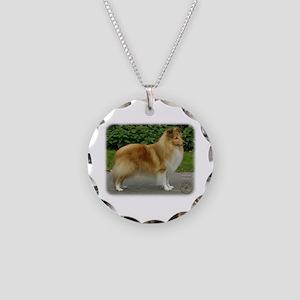 Shetland Sheepdog 9T002D-083 Necklace Circle Charm