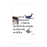 A Child's Prayer Sticker (Rectangle 50 pk)