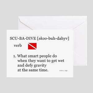 Scuba-Dive Definition Greeting Card