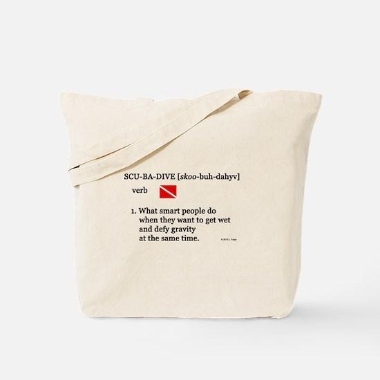 Scuba-Dive Definition Tote Bag