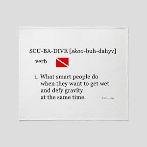 Scuba-Dive Definition Throw Blanket
