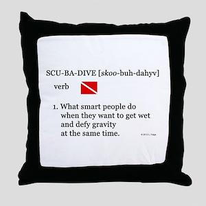 Scuba-Dive Definition Throw Pillow