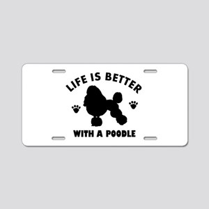 Poodle breed Design Aluminum License Plate