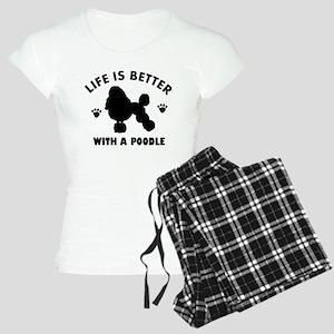 Poodle breed Design Women's Light Pajamas