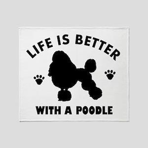 Poodle breed Design Throw Blanket