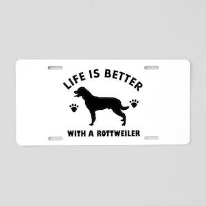 Rottweiler breed Design Aluminum License Plate