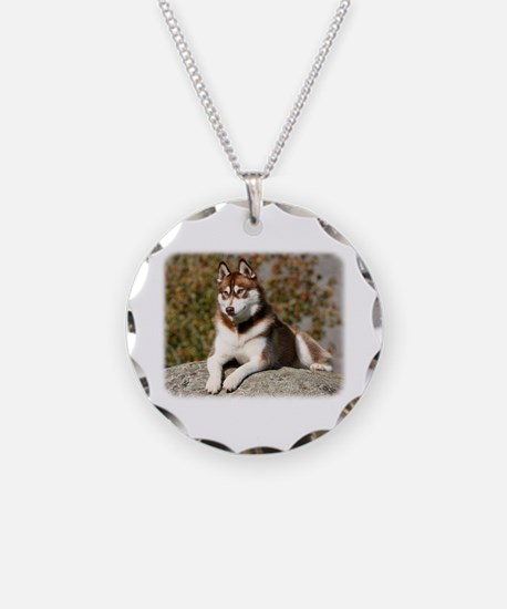 Siberian Husky 9Y773D-064 Necklace
