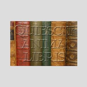 """""""Quiescit Anima Libris"""" Rectangle Magnet (10 pack)"""