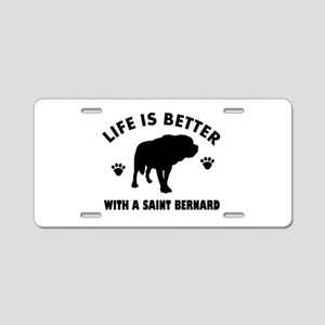 Saint bernard breed Design Aluminum License Plate