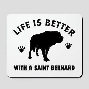 Saint bernard breed Design Mousepad