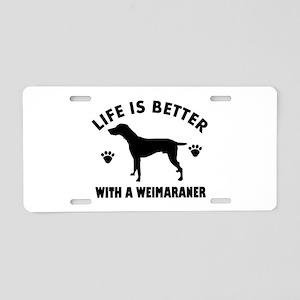 Weimaraner breed Design Aluminum License Plate