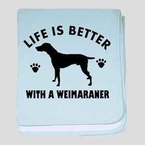 Weimaraner breed Design baby blanket