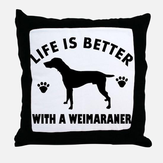 Weimaraner breed Design Throw Pillow