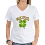 mexirish-faded Women's V-Neck T-Shirt