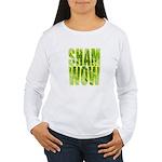 shamwow2-faded Women's Long Sleeve T-Shirt
