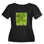 shamwow2-faded Women's Plus Size Scoop Neck Dark T
