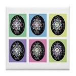 Pop Art Pysanka Tile Coaster