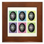 Pop Art Pysanka Framed Tile