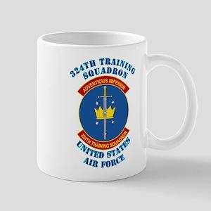324th Training Squadron with Text Mug