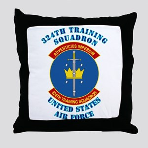 324th Training Squadron with Text Throw Pillow