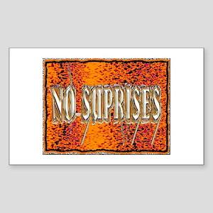 no suprises Sticker (Rectangle 10 pk)