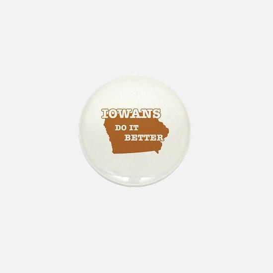Iowans Do It Better Mini Button