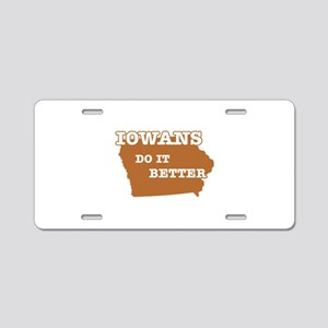 Iowans Do It Better Aluminum License Plate