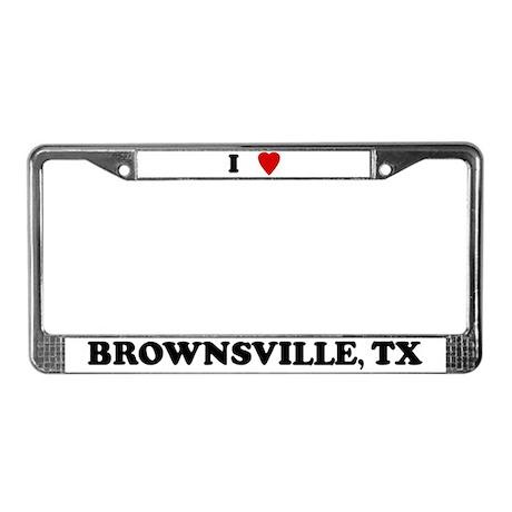 I Love Brownsville License Plate Frame