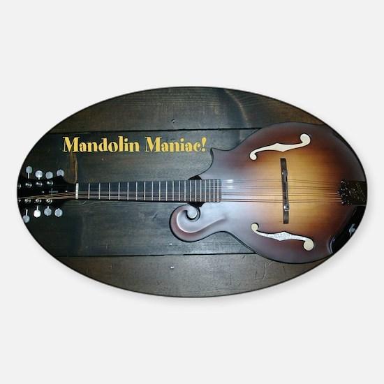 Mandolin Maniac sticker Decal