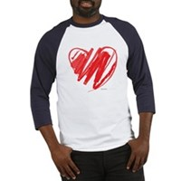 Crayon Heart Baseball Jersey