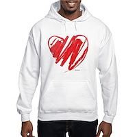 Crayon Heart Hooded Sweatshirt