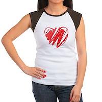 Crayon Heart Women's Cap Sleeve T-Shirt