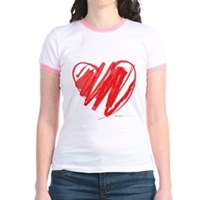 Crayon Heart Jr. Ringer T-Shirt