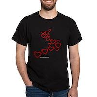 Falling Hearts Dark T-Shirt