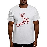 Falling Hearts Light T-Shirt