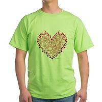 Heart Circles Green T-Shirt