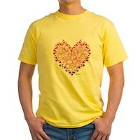 Heart Circles Yellow T-Shirt