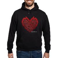 Heart Circles Hoodie (dark)