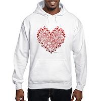 Heart Circles Hooded Sweatshirt