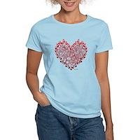 Heart Circles Women's Light T-Shirt