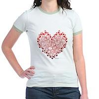 Heart Circles Jr. Ringer T-Shirt